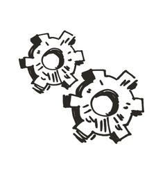 Gears doodle vector