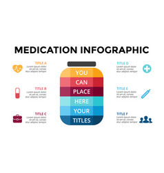 healthcare infographic medical diagram vector image