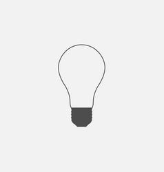 Symbol of lightbulb web line icon vector