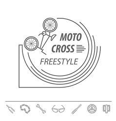 Bicycle thin line design logo template vector image