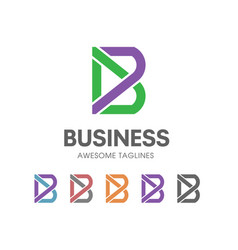 creative b letter logo vector image vector image