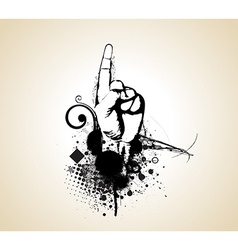 first finger up vector image