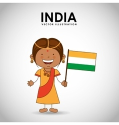 indian kid vector image