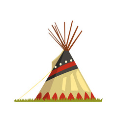 teepee tent or wigwam native american dwelling vector image