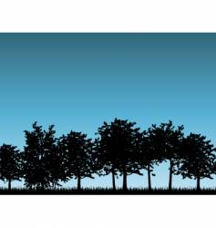 tree landscapes vector image vector image