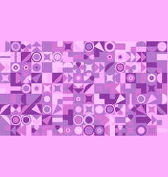 Abstract chaotic colorful geometrical mosaic vector