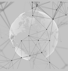 abstract futuristic network shapes high tech vector image