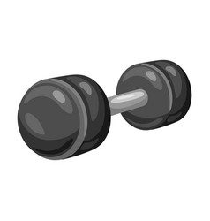 athletic dumbbell vector image