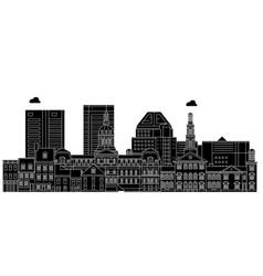 Baltimoreunited states skyline travel vector