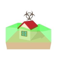 Biohazard zone icon cartoon style vector image