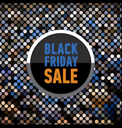 black friday sale banner on mosaic background vector image