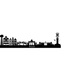 Brussels city skyline belgium vector