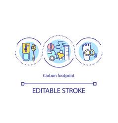 Carbon footprin concept icon vector