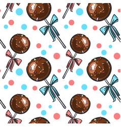 chocolate cake pops seamless vector image