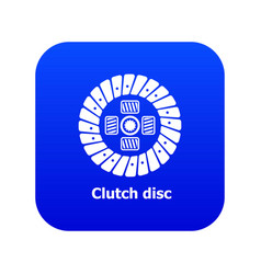 Clutch disc icon blue vector