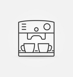 coffee machine icon in thin line style vector image
