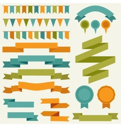 collection of decorative design elements vector image