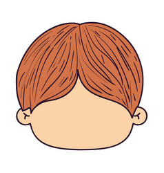Colorful caricature faceless front view kid with vector