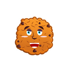 cookies happy emoji biscuit emotion merry food vector image