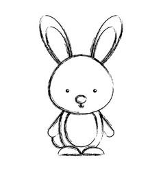 cute rabbit woodland animal vector image