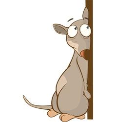 Cute Rat Cartoon Character vector image
