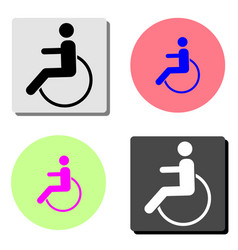 disabled man flat icon vector image