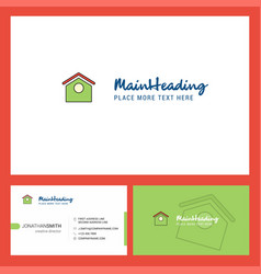 dog house logo design with tagline front and vector image