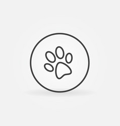 Dog paw in circle icon vector