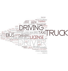 Driver word cloud concept vector