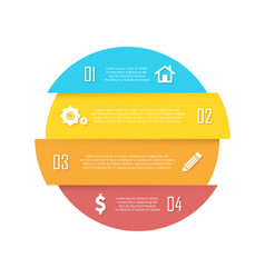 element for round infographic vector image