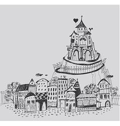 Fairy town vector