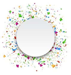 Festive Celebration Bright Confetti with Circle vector