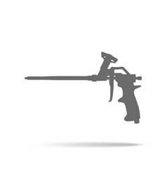 Foam gun icon vector