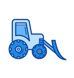 front loader line icon vector image