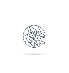 Gemstone letter c logo design icon template vector