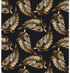 Gold Art Nouveau style pattern vector