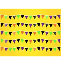 Halloween flags vector image