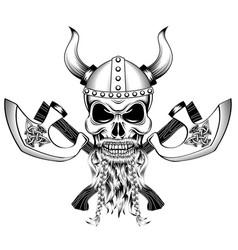 Hammer thor medieval viking symbol vector