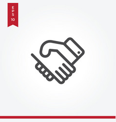 handshake icon in modern style for web site and vector image