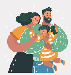 happy family father mother son vector image