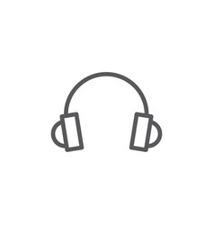 headphones line icon on white background vector image