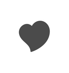 heart glyph icon and romance element vector image