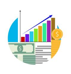 increase in financial capital vector image