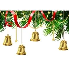 Jingle bell decorations vector