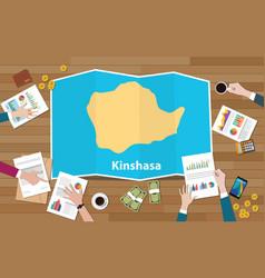 Kinshasa congo republic capital city region vector