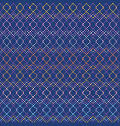 Knit polka dot grid pattern pattern for fabric vector