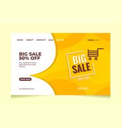 Landing page website cover design sale promotion t vector