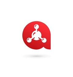 Letter A molecule logo icon design template vector