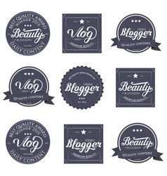 Lettering design template vector