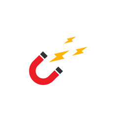 magnetic u logo graphic design template vector image